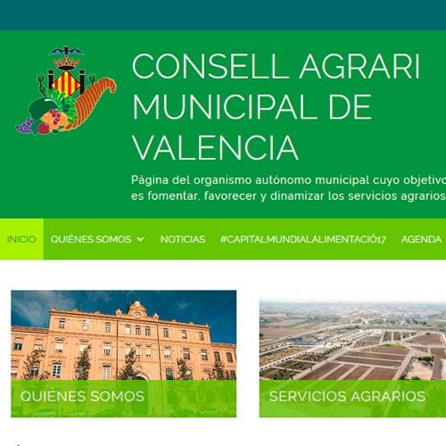 Consell Agrari Municipal de València · Home site · FabrikaGrafika Web Design