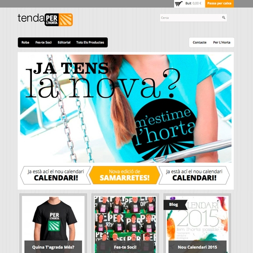 Tienda Per L'Horta -  FabrikaGrafika Diseño Web