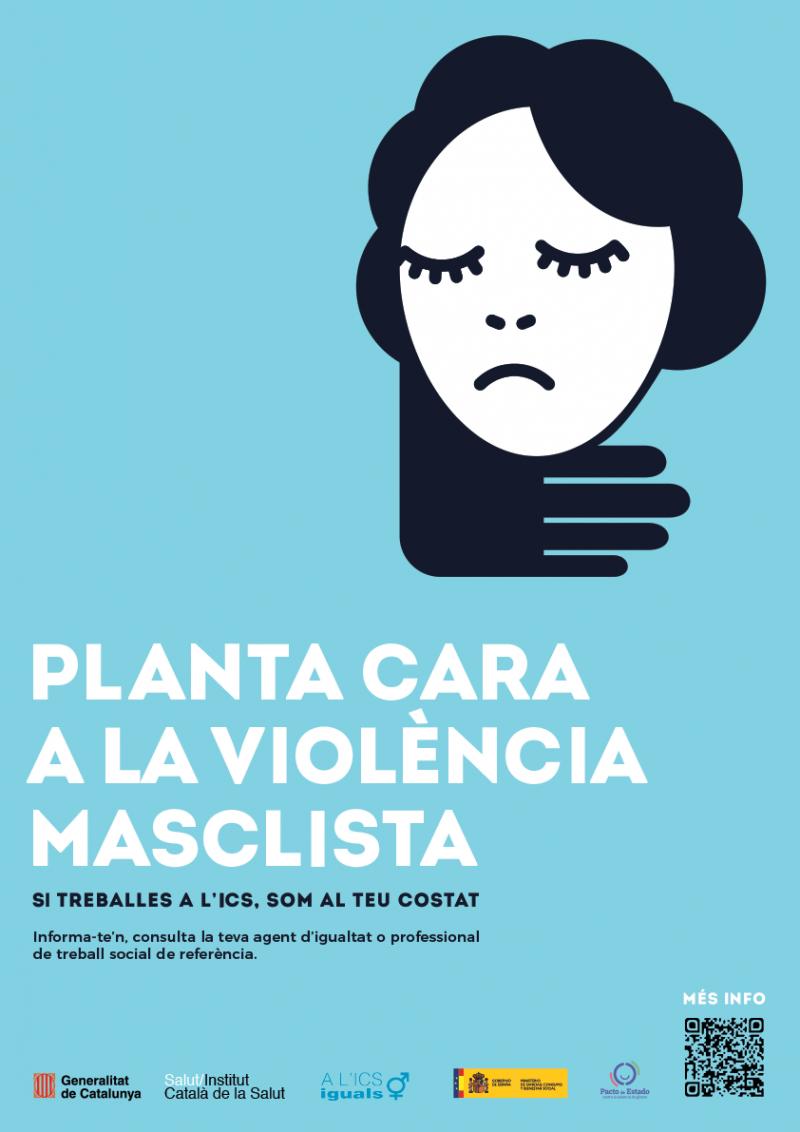 Planta cara a la violència masclista - Cartell