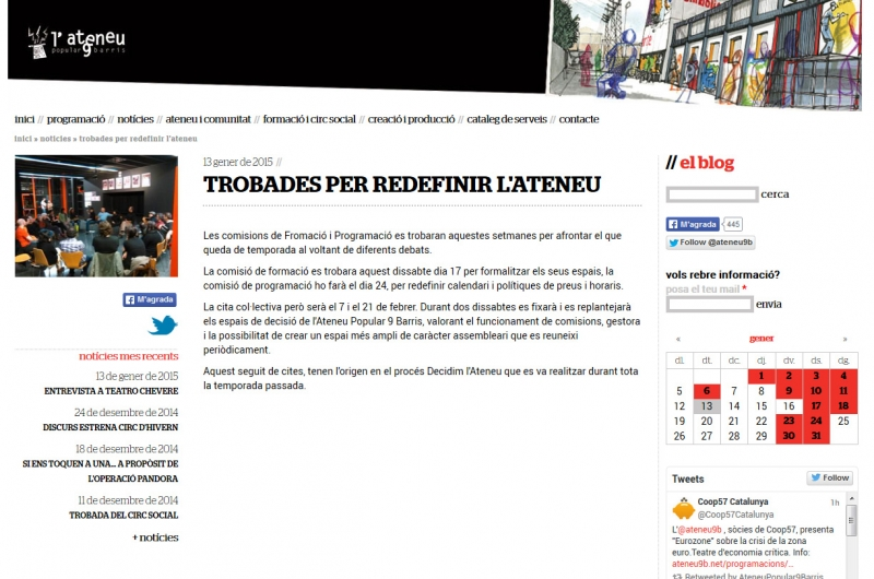 Ateneu 9 Barris Noticia