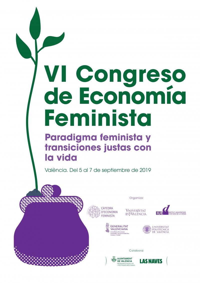 VI Congreso de Economía Feminista - Serigrafía bolsa de tela