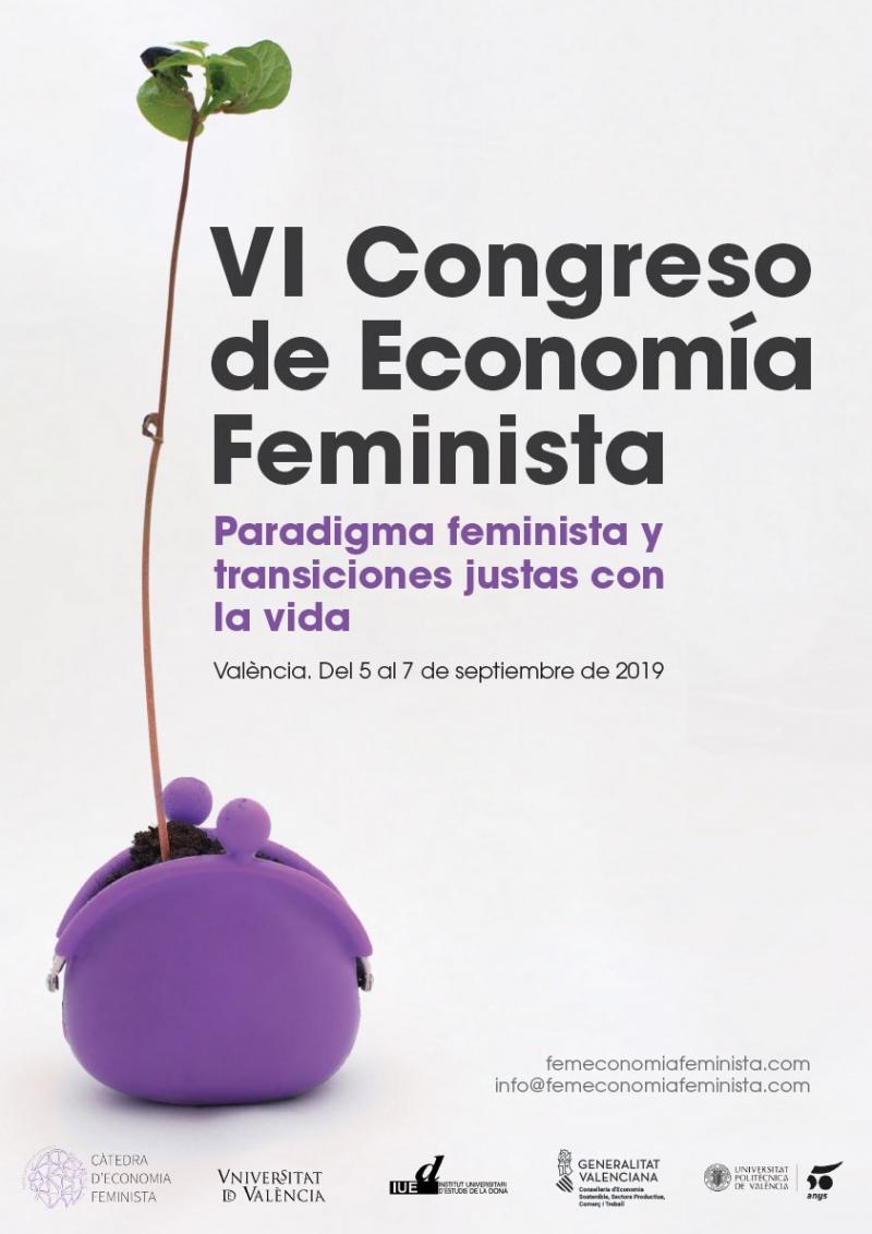 VI Congreso de Economía Feminista - Cartel