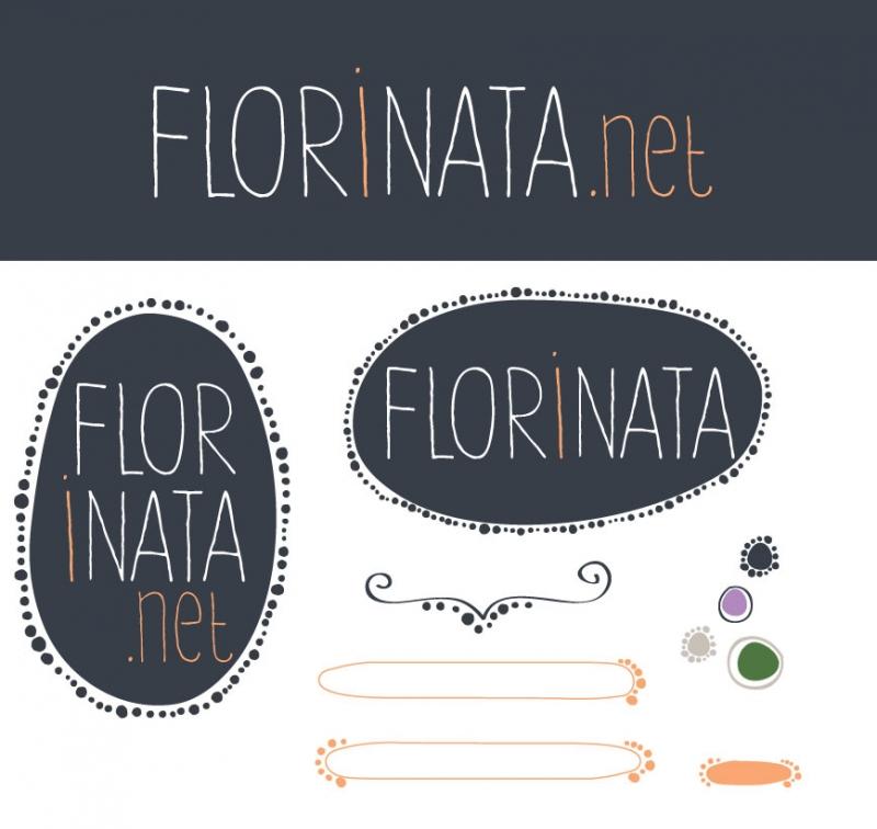 Flor i nata, logo y complementos