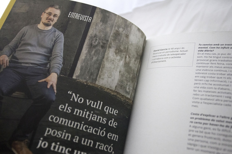 Annual report on mental health and media - Inside - FabrikaGrafika Editorial Design