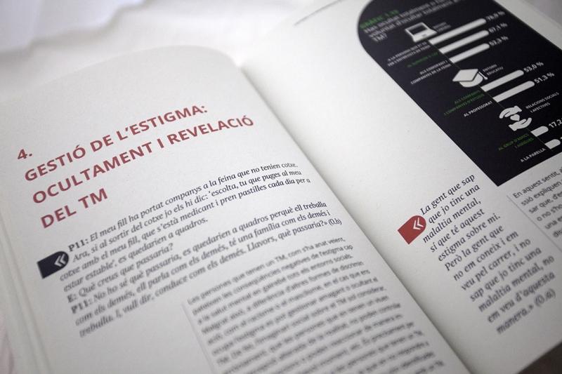 Estudi 'L'estigma i la discriminació en Salut Mental' - Pàgines interiors - FabrikaGrafika Disseny Editorial