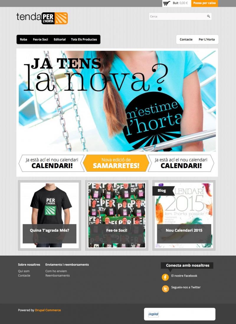 Tenda Per L'Horta -  Inici - FabrikaGrafika Disseny Web