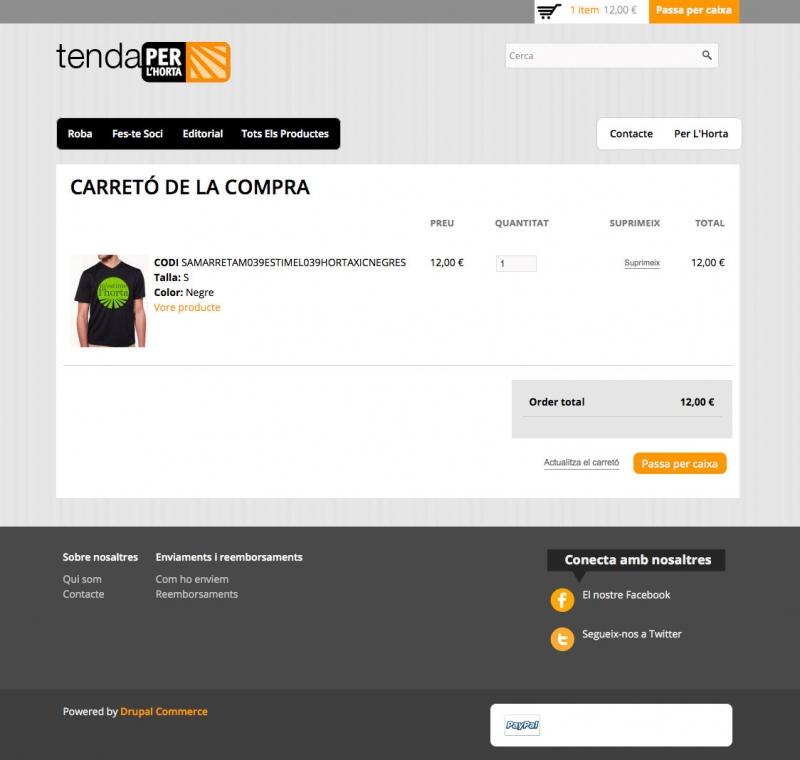 Tenda Per L'Horta -  Pagar - FabrikaGrafika Disseny Web