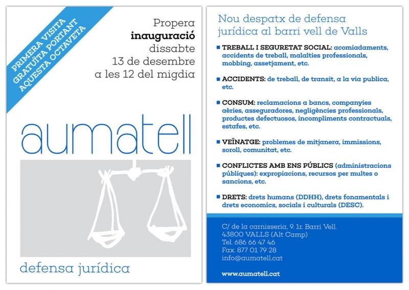 Aumatell - Diseño de invitación - FabrikaGrafika Diseño Gráfico
