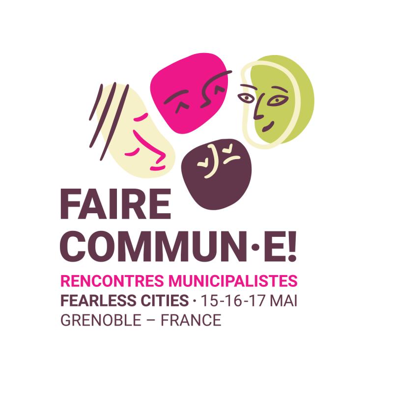 Logo 'Faire Commun·e!' en la seua versió quadrada