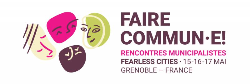 Logo 'Faire Commun·e!' en la seua versió rectangular