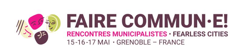 Logo 'Faire Commun·e!' en la seua versió per a capçalera