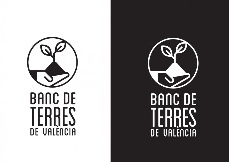 Logo Banco de Tierras, una tinta