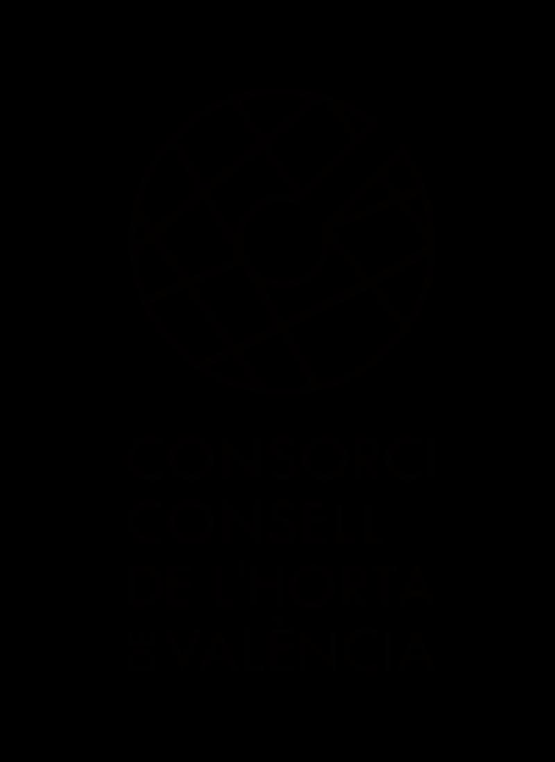Logo Consorci Consell de l'Horta de València una tinta versión vertical