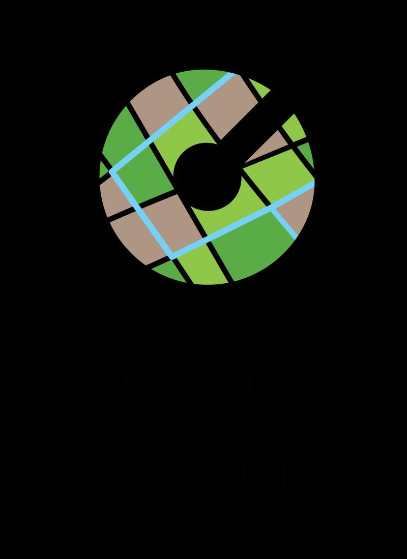 Logo Consorci Consell de l'Horta de València quatricomia versió vertical