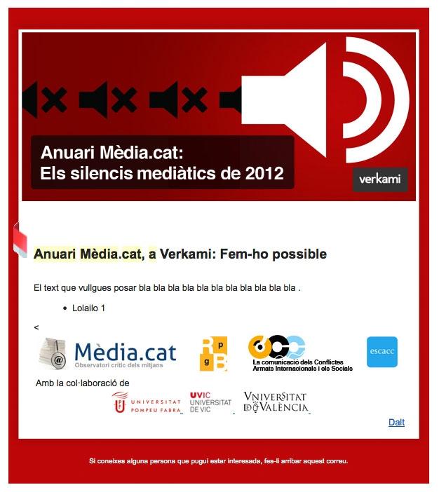 Newsletter promocional del Anuario 2013