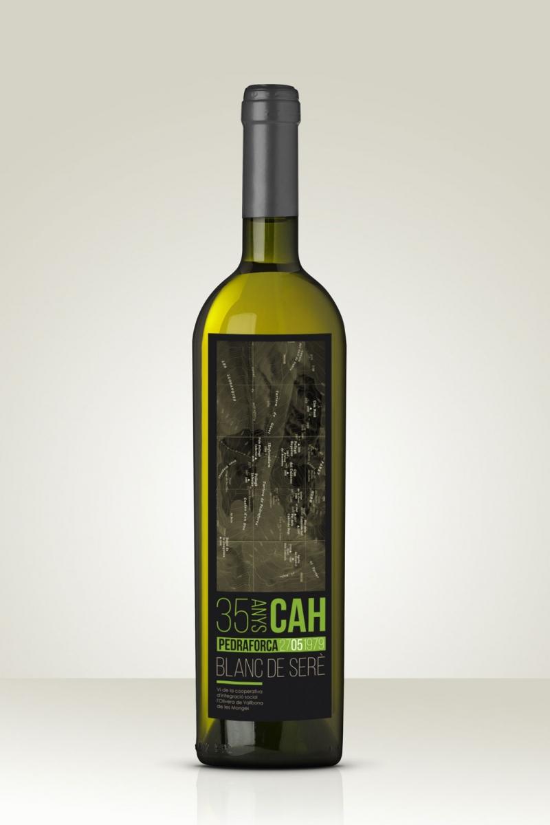 35 anys del CAH -Etiqueta de vi - FabrikaGrafika Disseny Gràfic i Packaging
