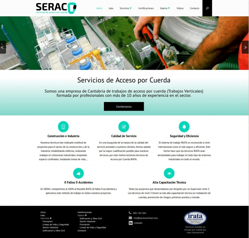 Diseño Web corporativa CMS wordpress