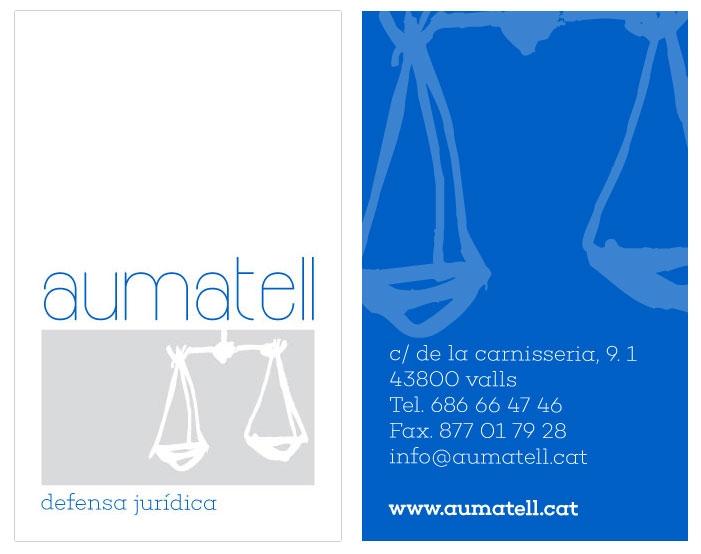 Aumatell - Diseño de tarjeta - FabrikaGrafika Diseño Gráfico