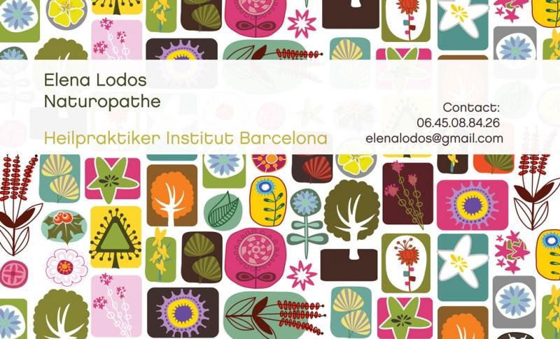 Tarjeta de Elena Lodos. Naturópata
