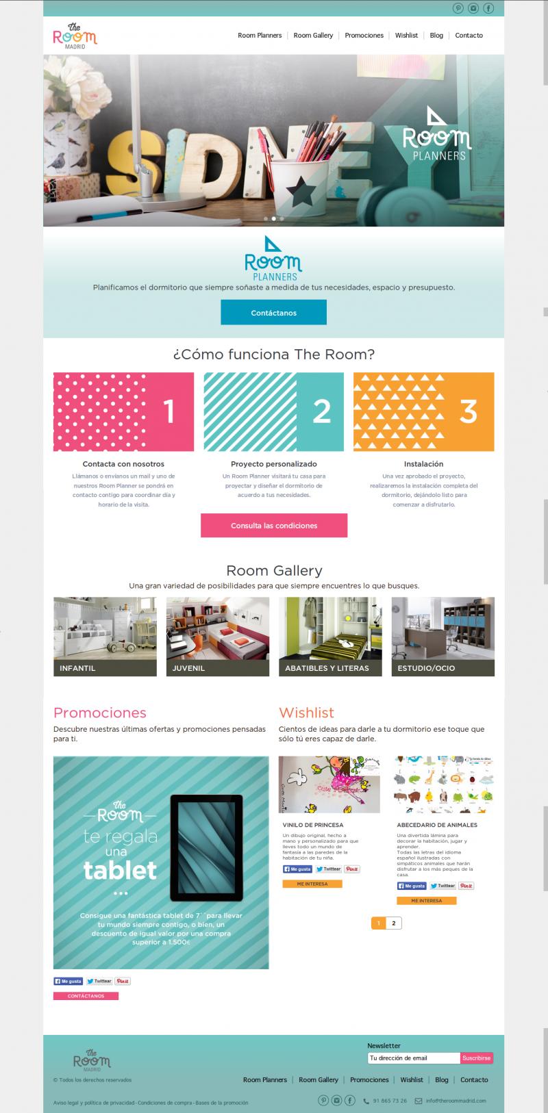 Portada The Room Madrid. Diseño Web FabrikaGrafika Wordpress