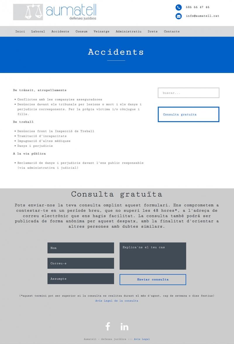 Aumatell - Lloc web - FabrikaGrafika Disseny Web