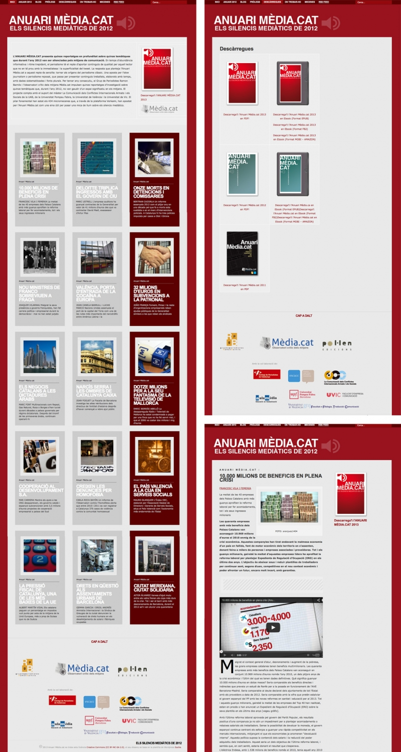 Web del anuario 2013